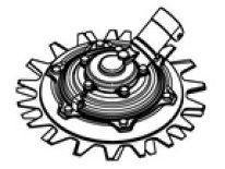 Nástavec - rotační nože pro motorové jednotky Makita DUR369 a UR101 (Makita 191M75-9) - 230mm, 215x230x130mm, 1.9kg, M8x1,25LH