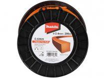 Struna nylonová Plus pro aku stroje Makita (Makita E-02820) - ø2.4mm, 206m, oranžová, hranatá