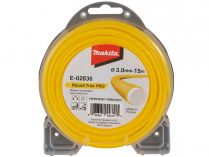 Struna nylonová Profi pro aku stroje Makita (Makita E-02836) - ø3.0mm, 15m, žlutá, kulatá