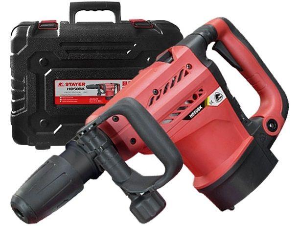 Vrtací a sekací kladivo STAYER HD 50 BK - SDS-Max, 1200W, 20J, 8.5kg, sekáče, kufr (377HD50BK)