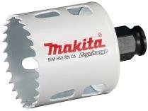 """Vrtací korunka - děrovka na dřevo, plast, hliník, neželezné kovy, ocel a nerezový plech Makita E-03838 - pr. 52 mm, BiM Ezychange, upínání 1/4"""" šestihran nebo SDS-Plus"""