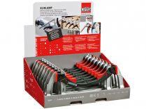 16-dílná sada - displej svěrek BESSEY KLI-D - 2x KLI12, 4x KLI16, 6x KLI20, 4x KLI25