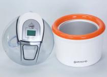 Zmrzlinovač Guzzanti GZ 155 bílý/oranžový (Výrobník zmrzliny GZ-155) - 1.5L, LCD displej, 12W, 220-240V