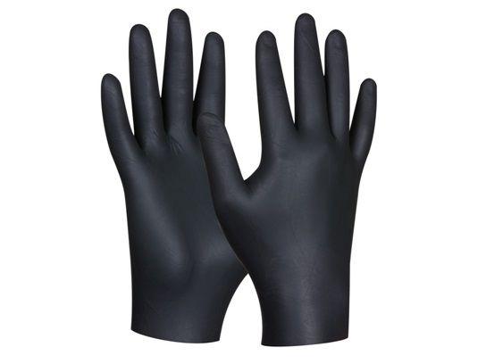 80ks jednorázové nitrilové vysoce odolné rukavice Gebol - velikost XL (709632)
