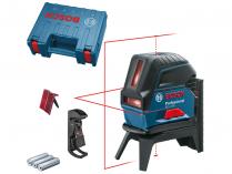 Křížový laser Bosch GCL 2-50 Professional - 3x AA, 50m, cílová destička, držák, kufr (0601066F02)