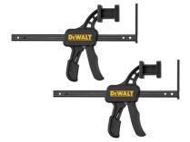 Dvě rychlosvorky DeWalt DWS5026 pro použití s vodícími lištami DWS5021 / DWS5022 / DWS5023