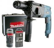 Zobrazit detail - Kombinované kladivo Makita HR2450FTX s výměnným sklíčidlem, 780W, 2.3J, pneumatické kladivo SDS-Plus