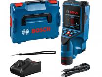 Aku detektor Bosch D-tect 200 C Professional - 1x aku 12V/2.0Ah, 4xAA, 200mm, 0.7kg, kufr L-BOXX 136 (0601081601)