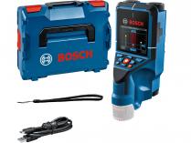 Aku detektor Bosch D-tect 200 C Professional - 4xAA/10.8/12V, 200mm, 0.7kg, kufr L-BOXX 136, bez akumulátoru a nabíječky (0601081608)