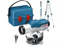 Nivelační optický přístroj Bosch GOL 20 D Professional - 60m, 1.5kg, měřící lať, stativ, příruční kufr (0601068402)