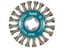Okružní ocelový kartáč X-LOCK Makita D-73352 - 115mm, splétaný drát, nerez ocel