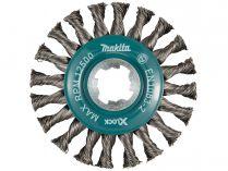 Okružní ocelový kartáč X-LOCK Makita D-73405 - 115mm, splétaný drát
