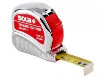 Svinovací metr Sola Tri-Matic TM 5 - 19mm, 5m, plastové pouzdro odolné proti nárazu (50023301)