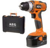 AEG BS 14 G2 NiCd - 2x 14,4 V/1,4 Ah; 1,9 kg, aku vrtačka bez příklepu