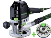 Horní frézka Festool OF 1400 EBQ-Plus + Box-OF-S 8/10x HW - 1400W, 8/70mm, 4.5kg