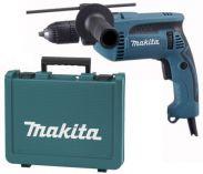Příklepová vrtačka Makita HP1641K- 680W; 16mm; 1,8kg; kufr; rychlosklíčidlo