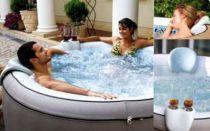 Komfortní set pro nafukovací vířivky MSpa - HANSCRAFT (2x opěrka hlavy + 1x držák na nápoje)