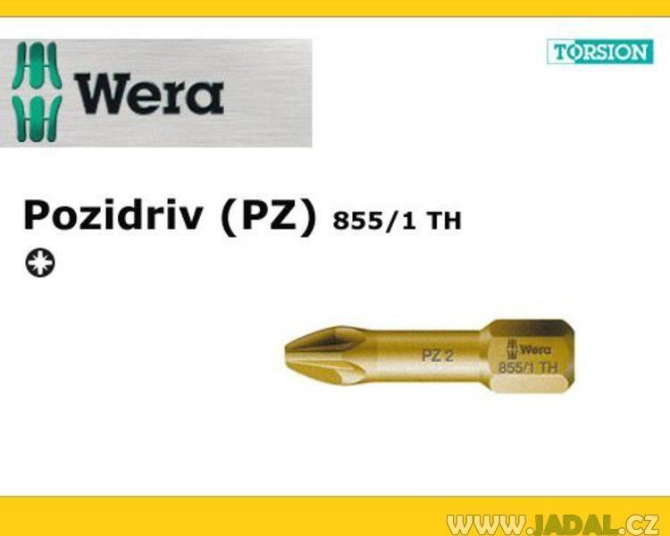 Šroubovací BIT Wera PZ 1 - křížový 855/1 TH (056910)