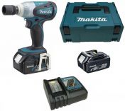 """Makita DTW251RMJ - 2x 18V/4,0Ah Li-Ion, 1/2"""", 230Nm, 1.5kg, aku rázový utahovák + kufr Systainer"""