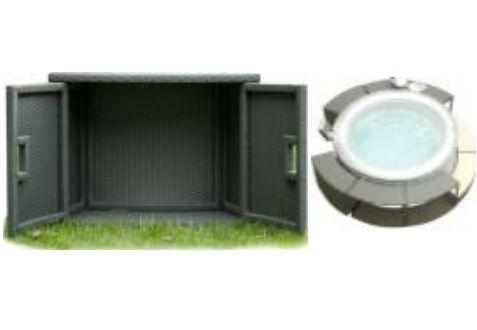 Hanscraft MSpa PVC proutěná úložná skříňka pro příslušenství proutěného programu - ANTRACIT (60 x 30 x 57 cm)