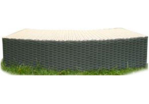 Hanscraft MSpa PVC proutěný dvojbarevný schod pro nafukovací mobilní vířivky - ANTRACIT (70 x 30 x 20 cm)