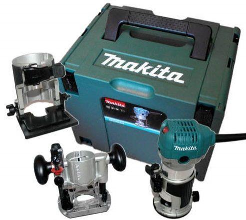 Kombinovaná multifunkční frézka Makita RT0700CX2J + příslušenství + kufr Systainer Makpac