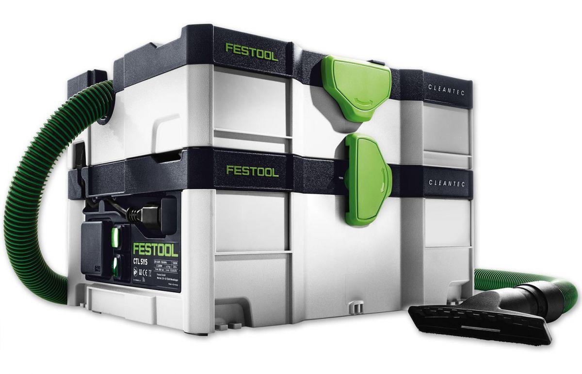 Mobilní průmyslový vysavač Festool CTL SYS ve formátu Systaineru, se zásuvkou a funkcí ofuku (584173)