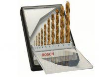 10-dílná sada vrtáků HSS-TiN, DIN 338 do kovu Bosch Robust Line