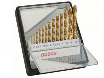 13-dílná sada vrtáků HSS-TiN, DIN 338 do kovu Bosch Robust Line