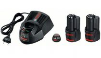 Zásuvný akumulátor 2x Bosch GBA 10.8V/2.5 Ah O-B + Rychlonabíječka AL1130 CV Professional