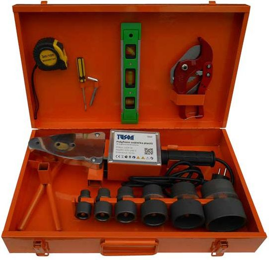 Polyfúzní svářečka plastů - svářečka plastových trubek TUSON POLY01, 750/1500W