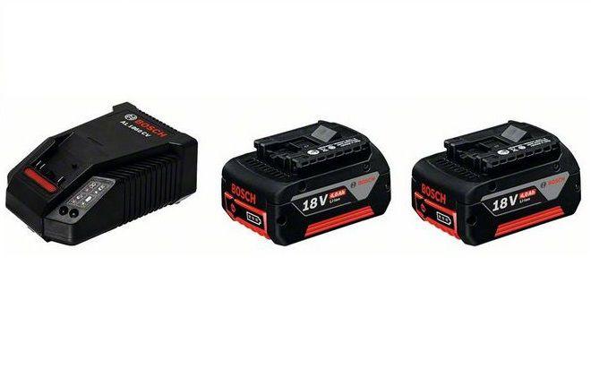 Zásuvný akumulátor 2x Bosch GBA 18V/4.0Ah M-C + Rychlonabíječka AL1860 CV Professional, 1600A002F8 Bosch příslušenství