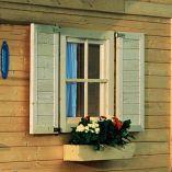 Okno Karibu pro zahradní domky 28 mm