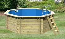 Bazén Karibu Model 1 A s dřevěným bedněním 4 x 4 m
