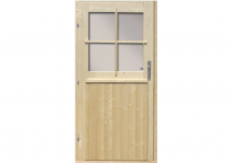 Dveře jednokřídlé Karibu 94x183cm pro zahradní domky 28mm, včetně zámku a rámu