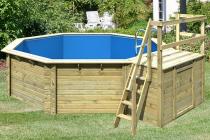 Bazén Karibu Model 2 B s dřevěným bedněním 4,70 x 5,50 m