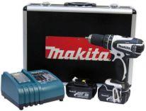Makita DHP456RF01 - 2x 18V/3.0Ah, 50Nm, 2 rychl., 1.6kg, kufr, aku vrtačka s příklepem