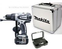 Makita DHP458RMWX - 2x 18V/4.0Ah, 91Nm, 2 rychl., XPT, 1.7kg, kufr, aku vrtačka s příklepem