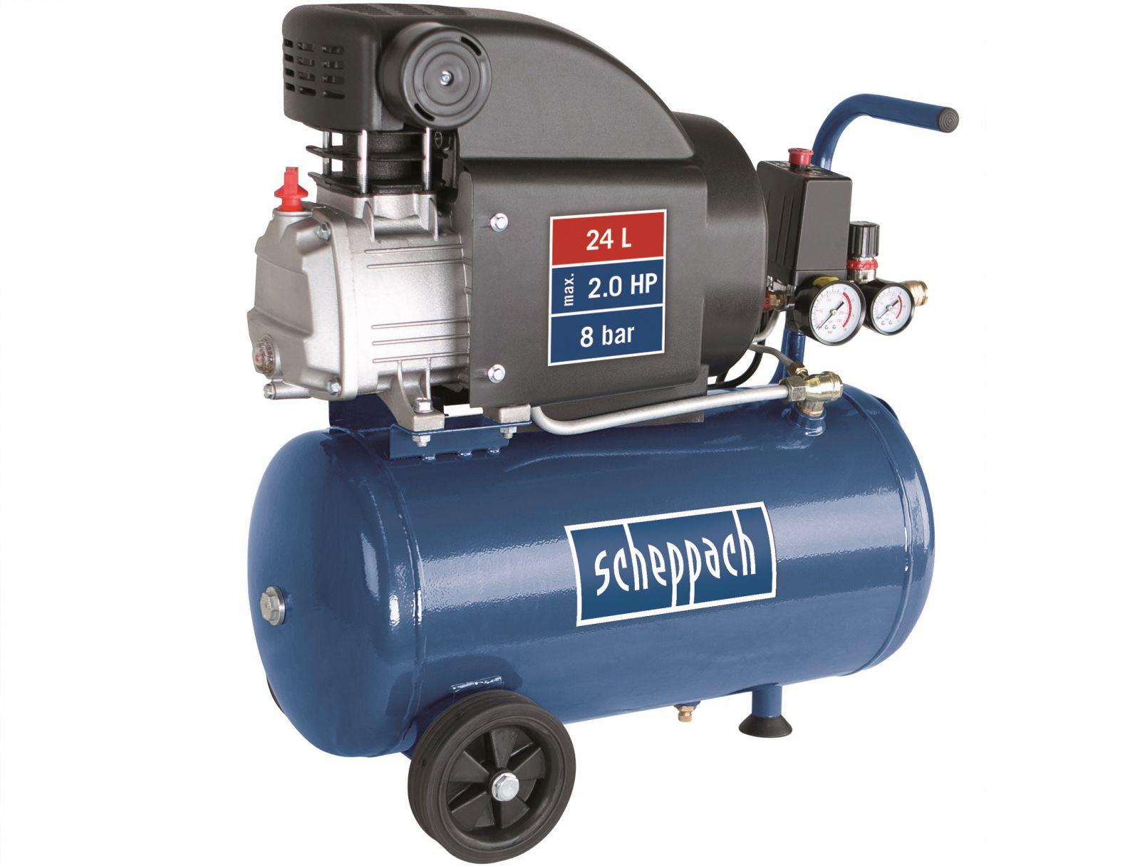 Olejový kompresor Scheppach HC 25 - 8 bar, 220 l/min, 24 l