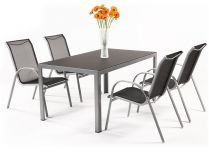 Sestava nábytku Garland Vergio 4+ (1x stůl Ryan + 4x židle Vera)