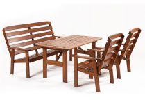 Garland zahradní sestava (2x křeslo, 1x lavice, 1x stůl) - Viken