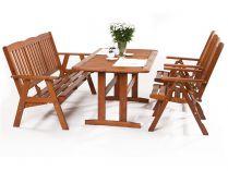 Garland zahradní sestava (2x pol. křeslo, 1x třímístná lavice, 1x stůl) - Sven 2+3+