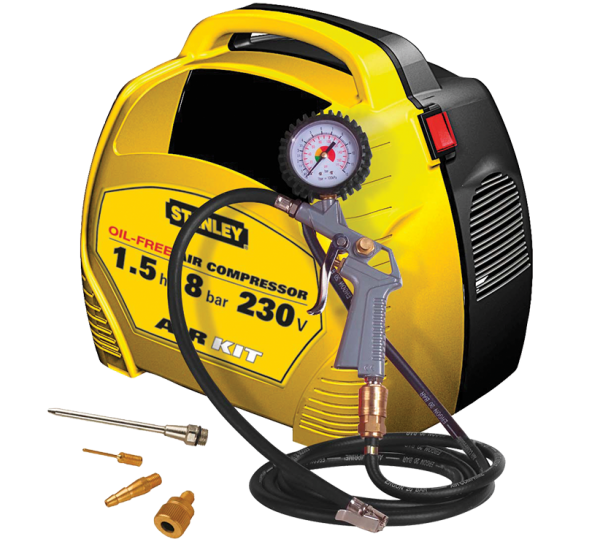 Bezolejový kompresor STANLEY AIR KIT - 8 bar, 180 l/min