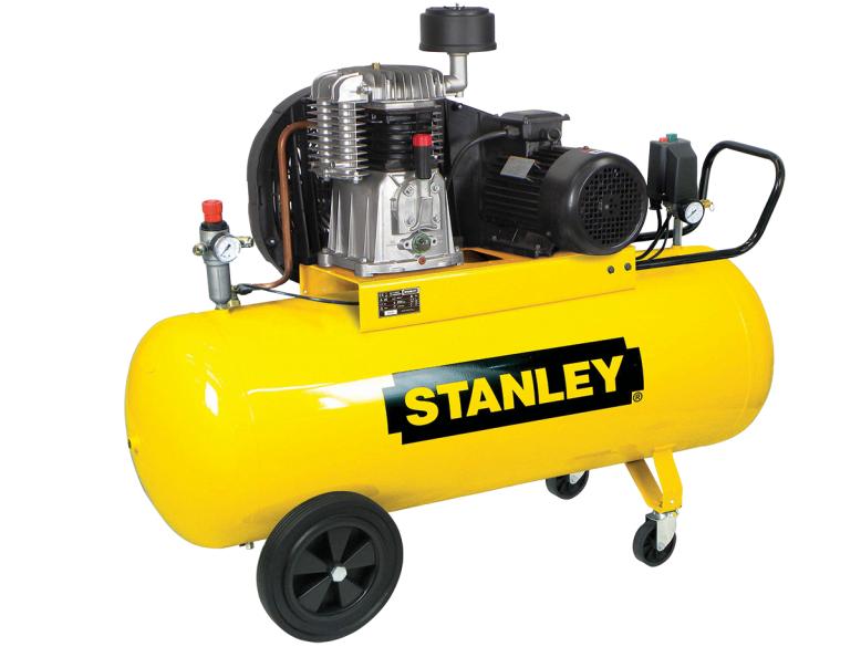 Dvouválcový řemenový kompresor STANLEY BA 551/11/200 - 11bar, 480l/min, 200l (BA551_11_200)