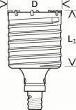 Dvoudílná příklepová vrtací korunka do betonu Bosch SDS-max-9 Core Cutter 90 x 80 / 8 mm (2 608 580 523) Bosch příslušenství