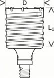 Dvoudílná příklepová vrtací korunka do betonu Bosch SDS-max-9 Core Cutter 45 x 80 / 6 mm (2 608 580 518) Bosch příslušenství