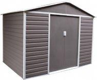 Plechový zahradní domek G21 GAH 706 - 277x202x255cm, šedý
