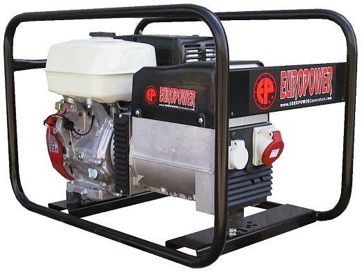 Generátor - Jednofázová elektrocentrála HONDA Europower EP6500T s výkonem 7,0 kVA