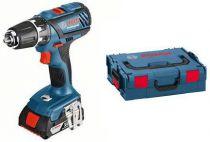 Bosch GSR 18-2-LI Plus Professional - 2x 18V/4.0Ah, 63Nm, 2 rychl., 1.49kg, kufr, aku vrtačka bez příkl.