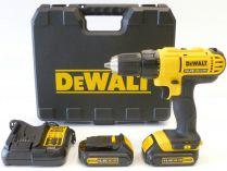 DeWALT DCD734C2 - 2x 14.4V/1.3Ah XR Li-Ion, 38Nm, 2 rychl., 1.57kg, aku vrtačka bez příklepu